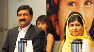Malala and Ziauddin Yousafzai,