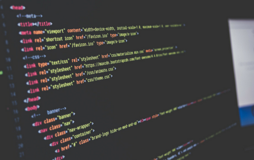 Computer screen with text